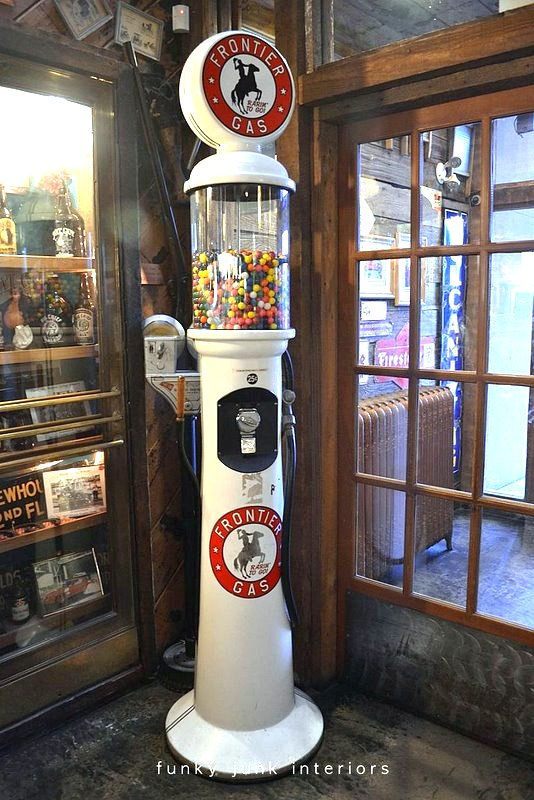 A giant gas tank turned gum ball machine at Mission Springs Brewing Company, in Mission, BC Canada