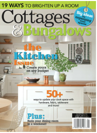 Funky Junk Interiors' Pallet Sofa has been featured in Cottages and Bungalows Magazine