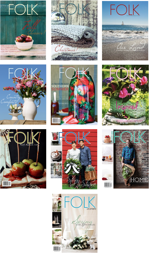 Funky Junk Interiors has been featured in FOLK Magazine 2011 2012 2013
