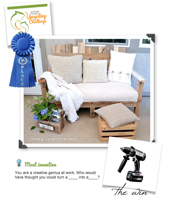 Funky Junk Interiors wins a 2012 Canada Wide Upcycle Challenge