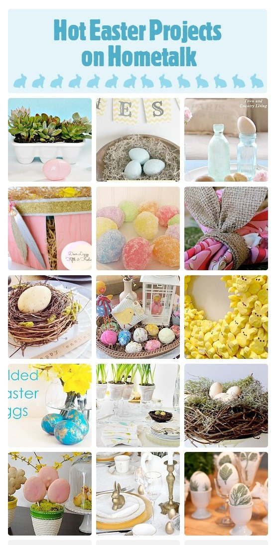 Hot Easter Projects on Hometalk featured on Funky Junk Interiors