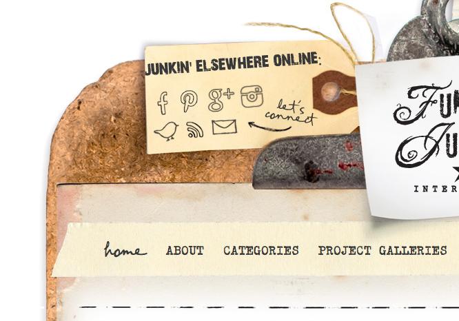 funky junk new blog design