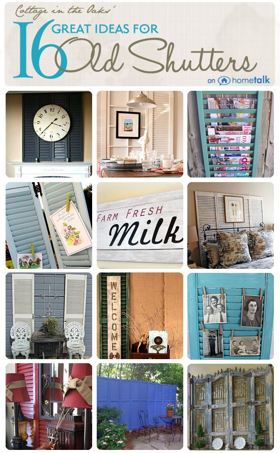 Great Ideas for Old Shutters on Hometalk, curated by Cottage in the Oaks