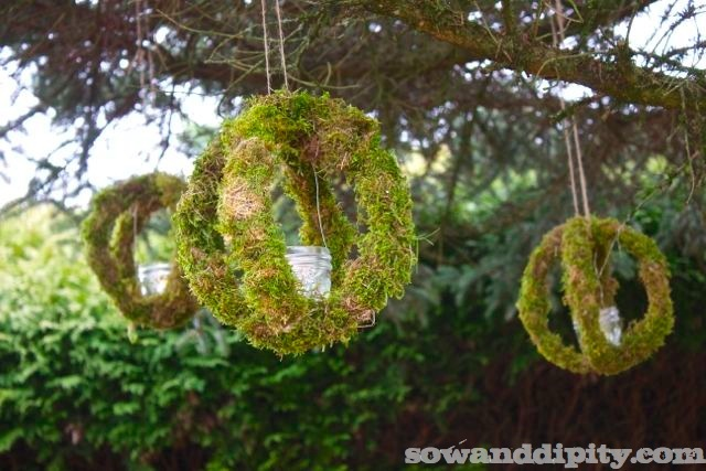 Moss Candle Orbs by Sow and Dipity featured on Funky Junk Interiors