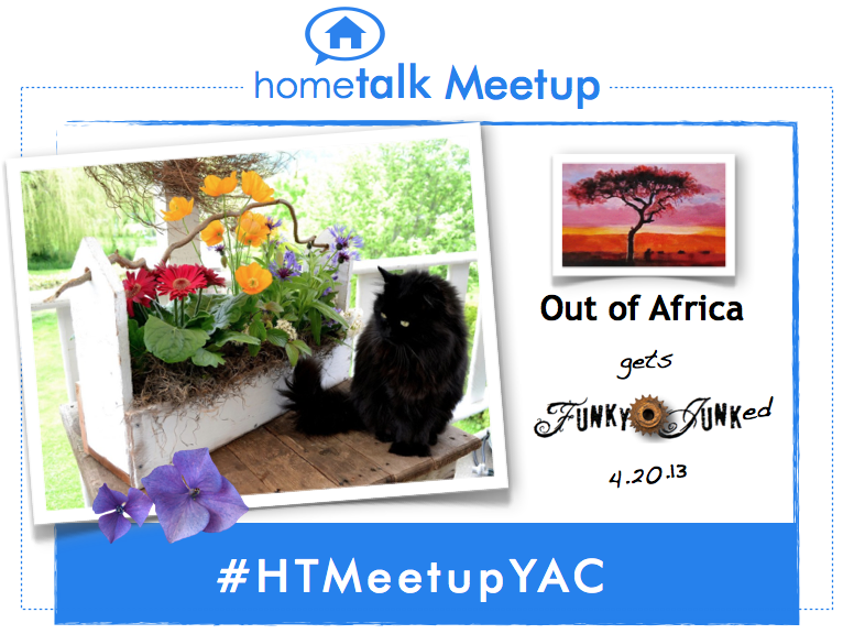 Out of Africa gets Funky Junked at a Hometalk Meetup