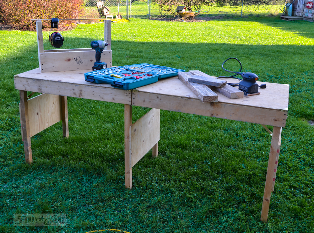 A portable, collapsible workbench every DIYer needs for woodworking