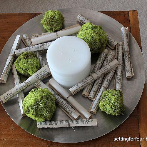Reindeer Moss DIY by Setting for Four featured on Funky Junk Interiors