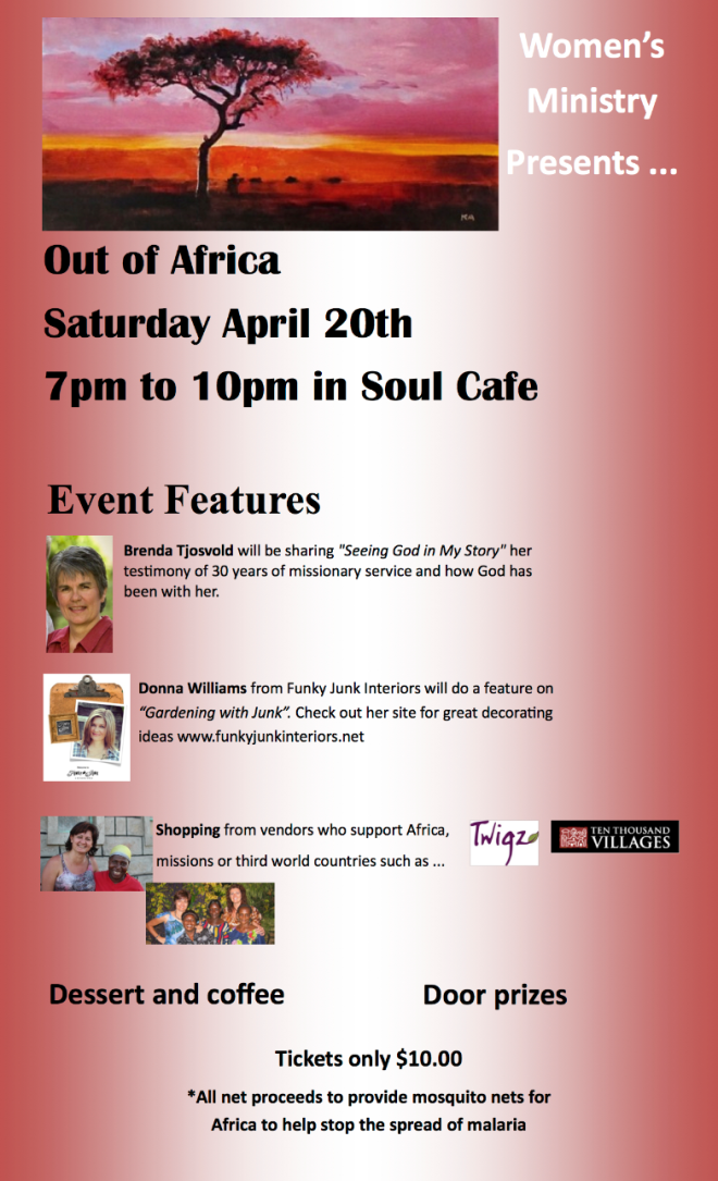 Out of Africa fundraiser YAC