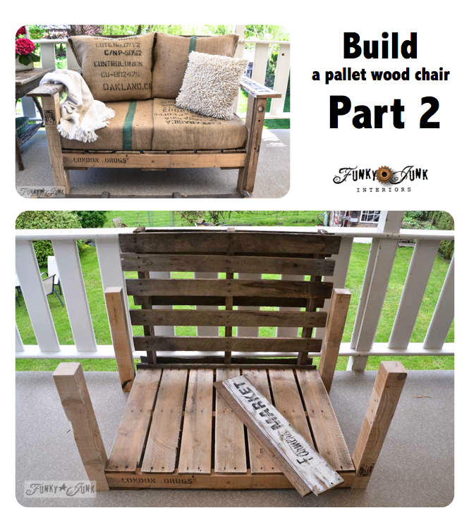 Build a pallet wood chair Part 2 - on FunkyJunkInteriors.net