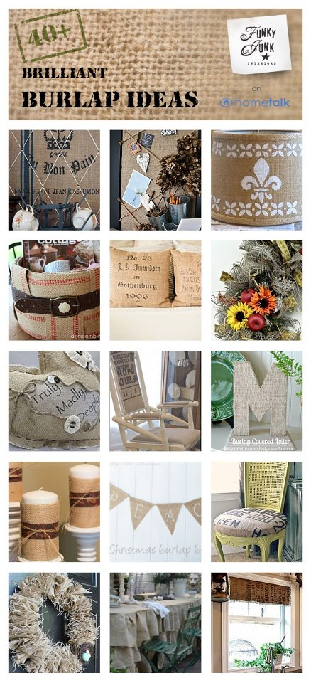 40 plus Brilliant Burlap Ideas, curated by Funky Junk Interiors from Hometalk