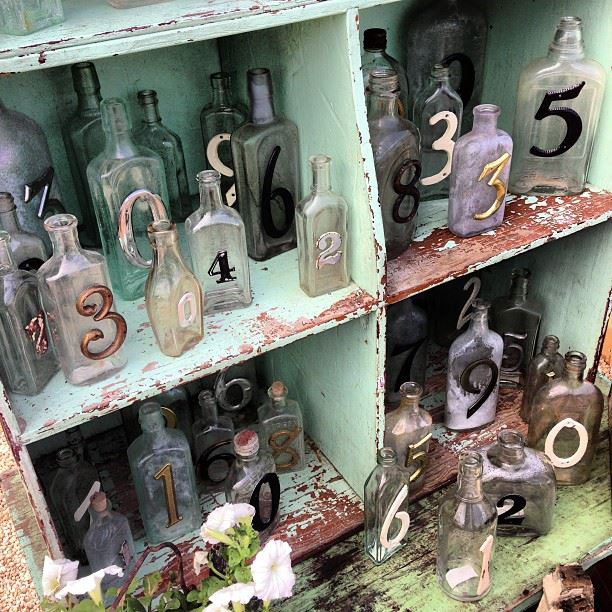 Lucketts eve-numbered antique bottles