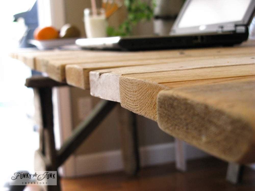Pallet wood for desk top via Funky Junk Interiors