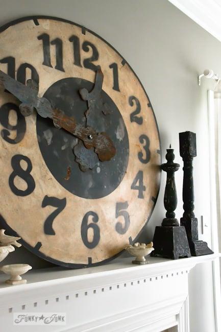 Karen - The Graphics Fairy's house - big rustic clock