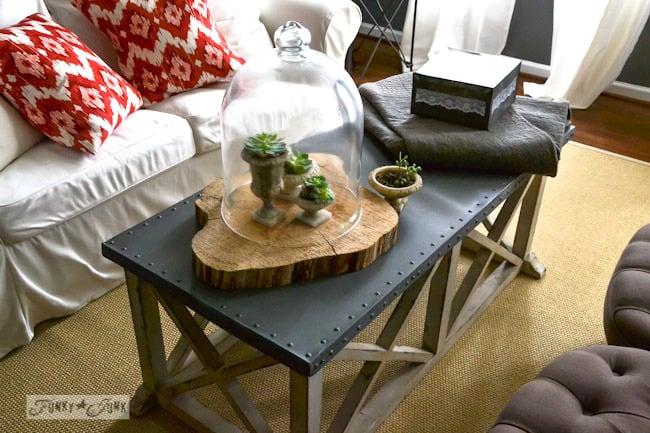 Karen - The Graphics Fairy's house - terrarium on x framed coffee table