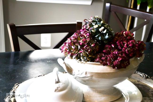 Karen - The Graphics Fairy's house - stoneware with hydrangeas