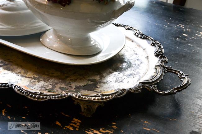 Karen - The Graphics Fairy's house - antique silver platter