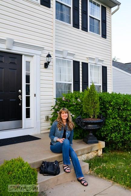 Karen - The Graphics Fairy's house - Karen outside