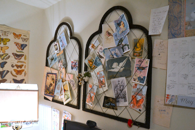 Karen - The Graphics Fairy's house - string and frame bulletin boards