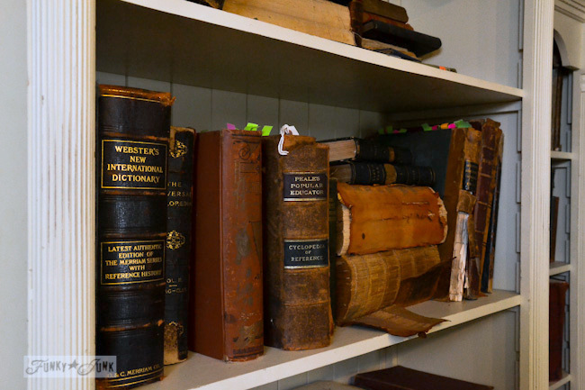 Karen - The Graphics Fairy's house - antique books on a shelf