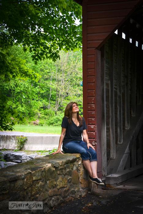 Touring historic Pennsylvania - red covered bridge / Funky Junk Interiors