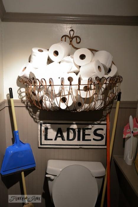 Lucketts Eve-unique toilet paper storage rusty bin