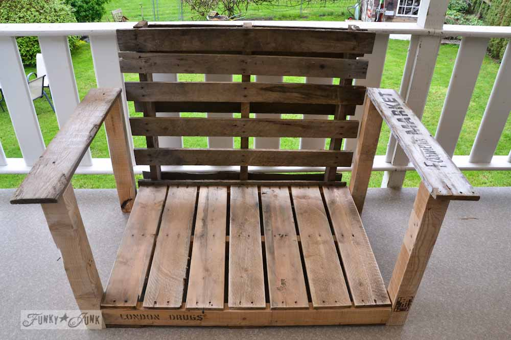 pallet wood chair build via Funky Junk Interiors
