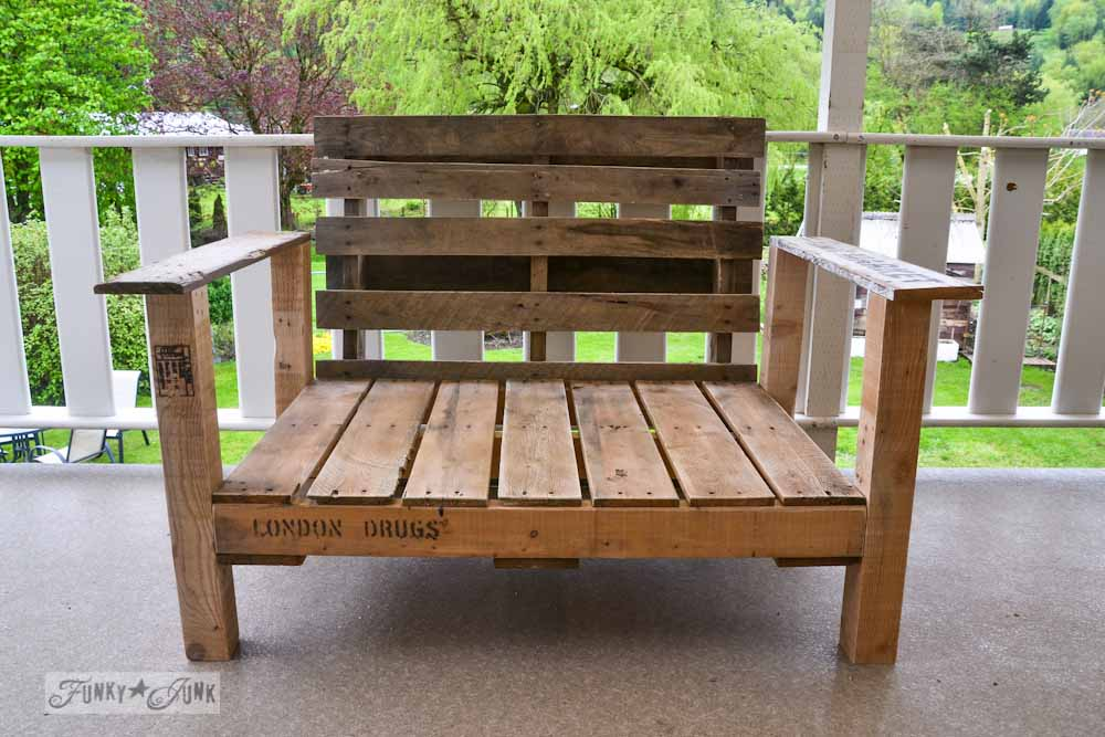 pallet wood patio chair build via Funky Junk Interiors - Pallet Wood Patio Chair Build - Part 2 - Funky Junk InteriorsFunky