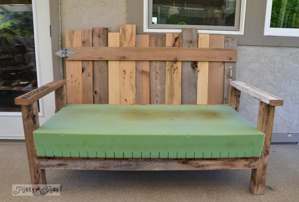 Pallet wood patio chair build part 2 Funky Junk InteriorsFunky