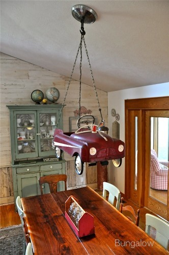 Pedal car chandelier by Bungalow