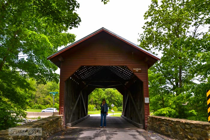 Touring historic Pennsylvania - red covered bridge