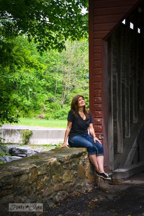 Touring historic Pennsylvania - red covered bridge