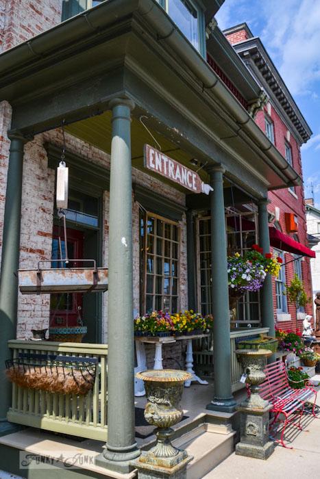 Touring historic Pennsylvania - old brick buildings