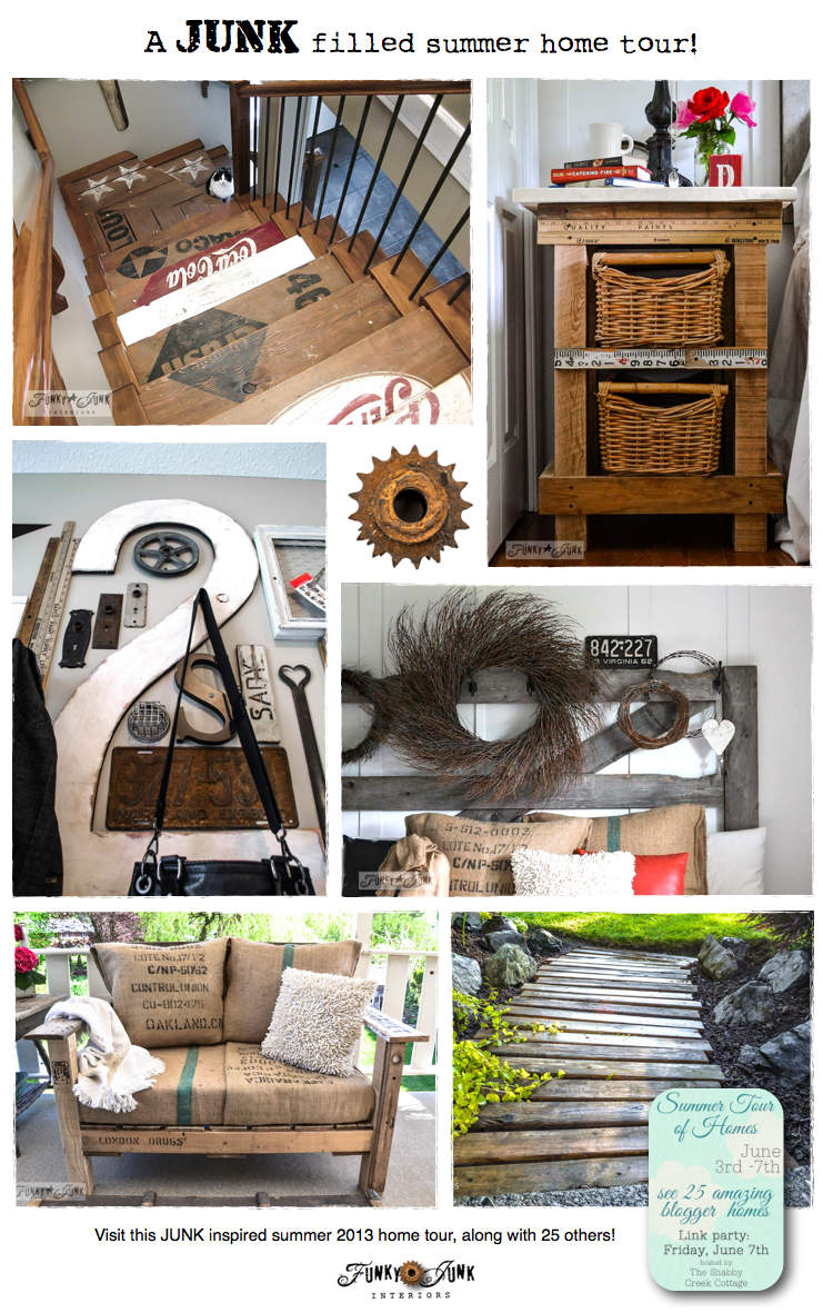 A JUNK filled summer home tour! Warning... photo AND junk heavy. via http://www.funkyjunkinteriors.net/