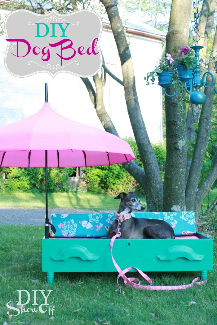 DIY-Parasol-Dresser-Drawer-Pet-Bed by DIY ShowOff