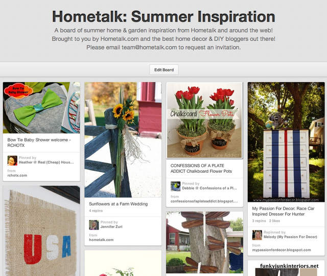 Hometalk - Summer Inspiration on Pinterest