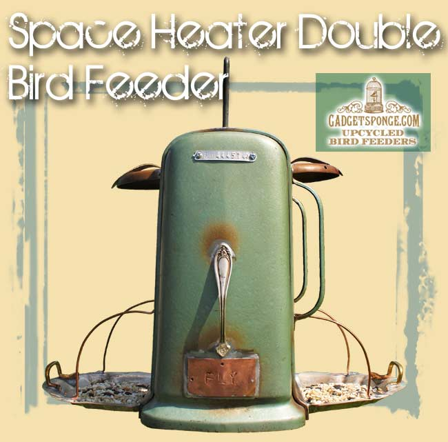 Space Heater Double Bird Feeder by Gadget Sponge