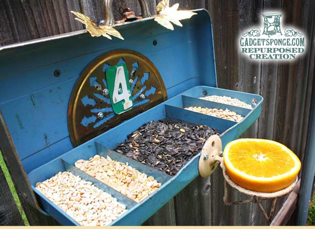 Tackle Box Bird Feeder by Gadget Sponge
