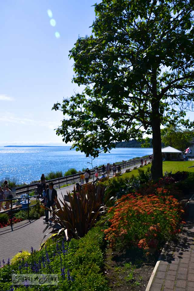 Visiting White Rock, BC Canada - the seawall