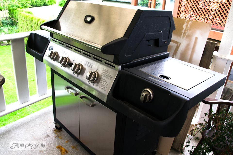dirty grill before