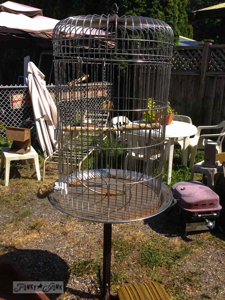 Junkin' at Rusty's - bird cage