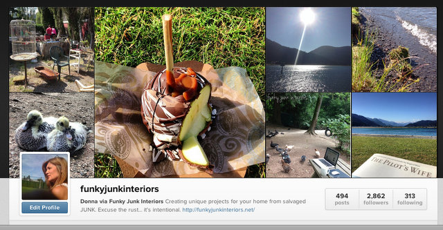 A blogger's life while camping - Instagram Funky Junk Interiors