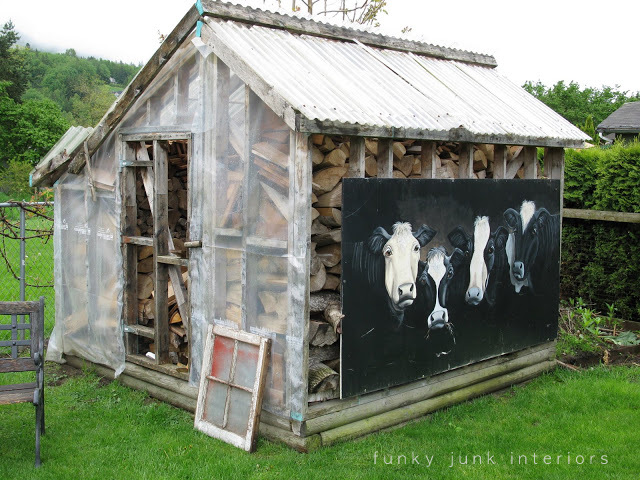 Rustic garden shed via Funky Junk Interiors - from an old greenhouse
