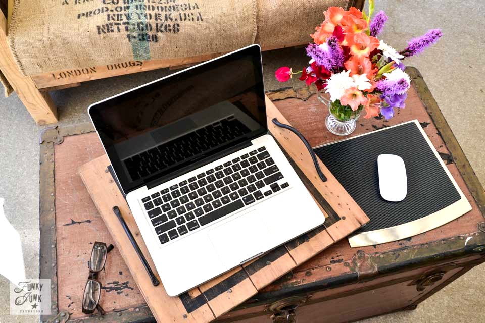 Desktop vs Laptop computer - which is right for you? This post compares the pros and cons of a desktop and laptop, hoping to remove the guesswork for you! via Funky Junk Interiors