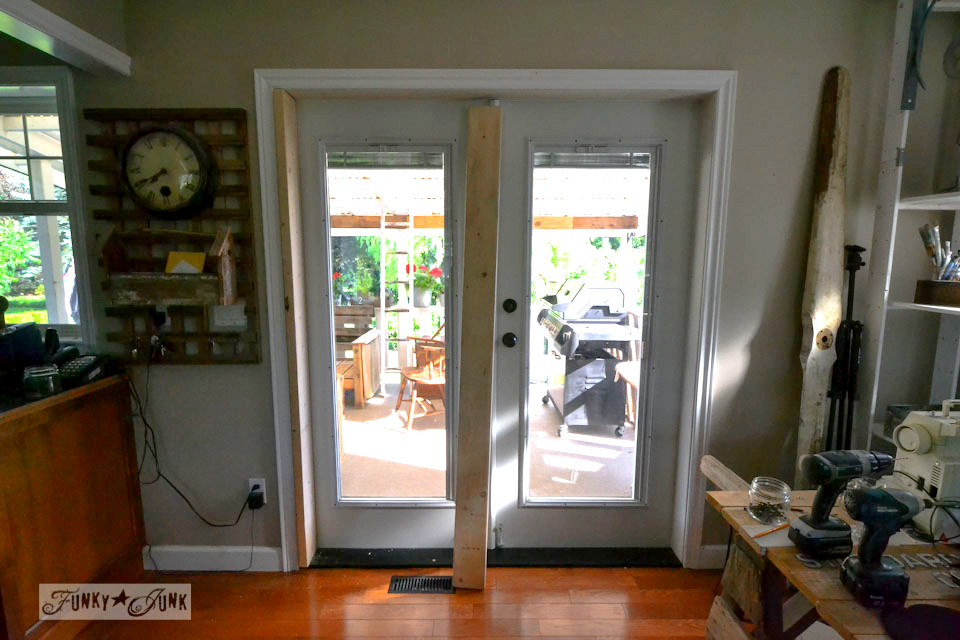 Installing screen doors on french doors... easy and cheap! via Funky Junk & Installing screen doors on french doors... easy and cheap!Funky Junk ...