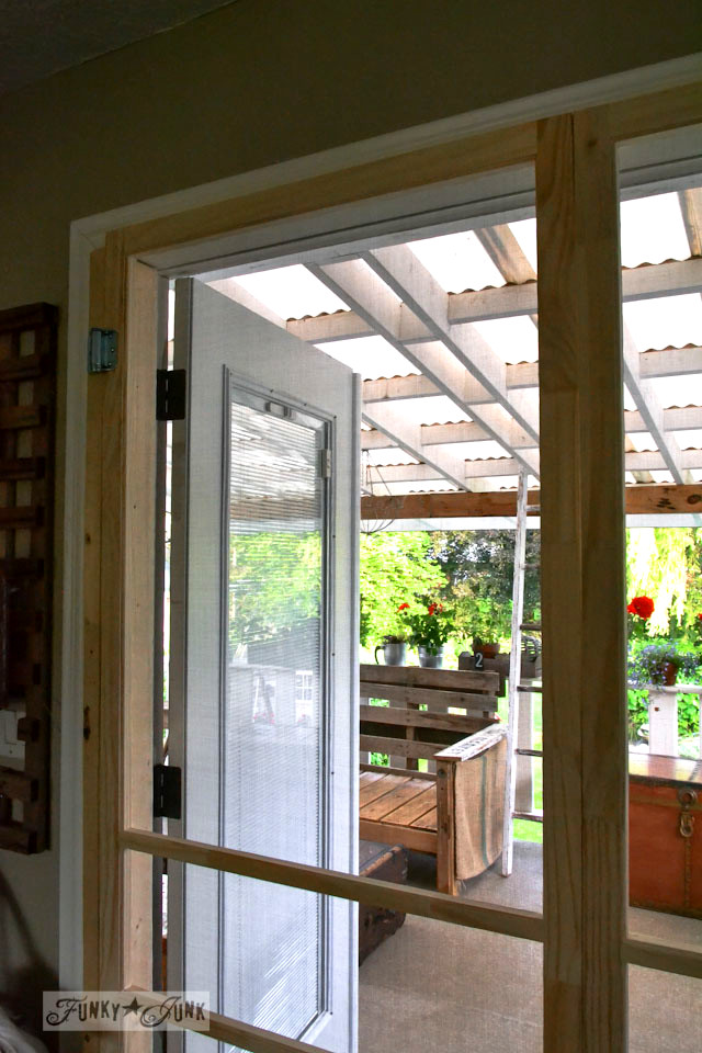 Installing Screen Doors On French Doors Easy And Cheapfunky Junk