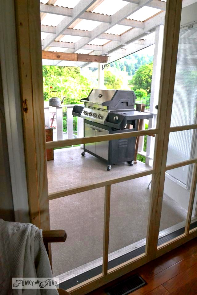 Learn how to install screen doors on french doors... easy and cheap using pre-made screen doors!
