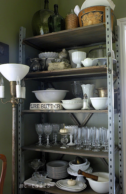 Industrial shelving by Oliver and Rust