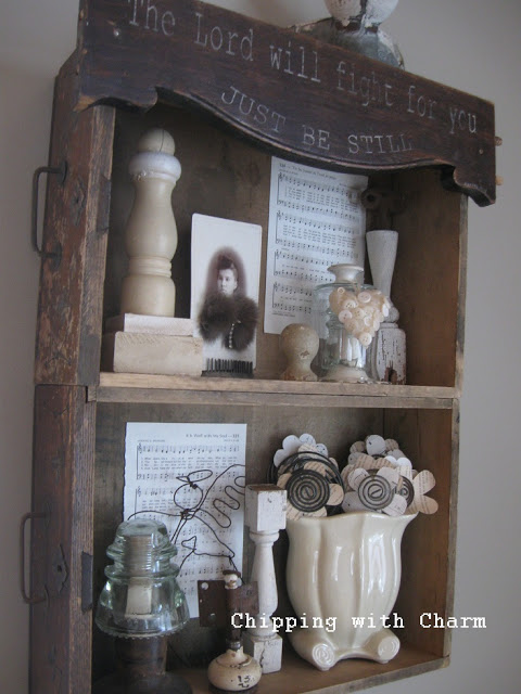 Rustic drawer shelves by Chipping with Charm