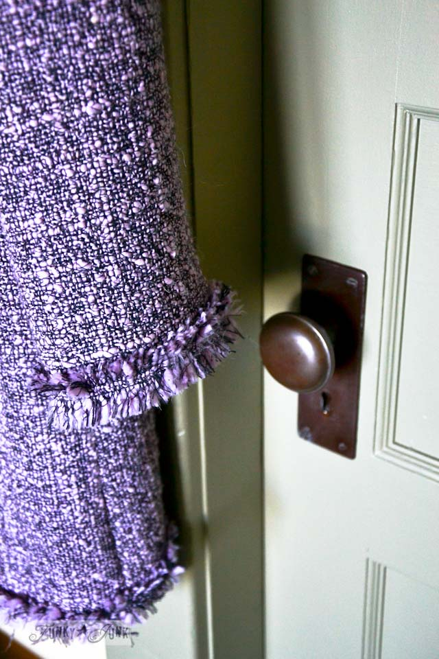 A vintage coat and a door - part of Summer Adventure 5 / the TV fix via Funky Junk Interiors