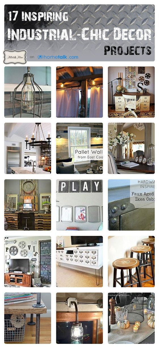 17 Inspiring Industrial Chic Decor Projects, from Hometalk, featured on https://www.funkyjunkinteriors.net